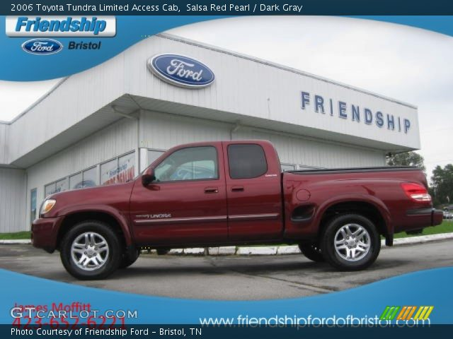 salsa red pearl 2006 toyota tundra limited access cab dark gray interior. Black Bedroom Furniture Sets. Home Design Ideas