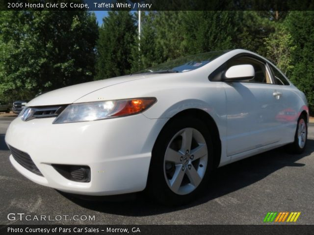 taffeta white 2006 honda civic ex coupe ivory interior vehicle archive. Black Bedroom Furniture Sets. Home Design Ideas