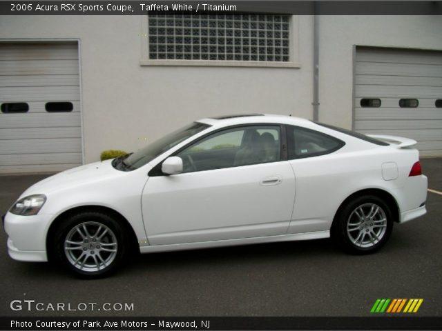 Taffeta White - 2006 Acura RSX Sports Coupe - Titanium ...  Acura