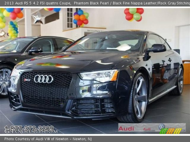 phantom black pearl 2013 audi rs 5 4 2 fsi quattro coupe black fine nappa leather rock gray. Black Bedroom Furniture Sets. Home Design Ideas