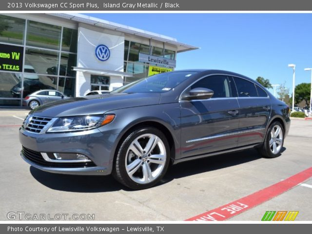island gray metallic 2013 volkswagen cc sport plus black interior vehicle. Black Bedroom Furniture Sets. Home Design Ideas