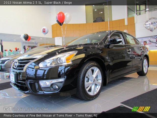 super black 2013 nissan altima 2 5 sl beige interior vehicle archive 68223827. Black Bedroom Furniture Sets. Home Design Ideas