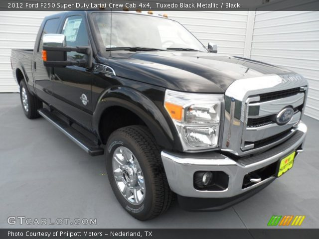 2012 Ford F250 Super Duty Lariat Crew Cab 4x4 in Tuxedo Black Metallic