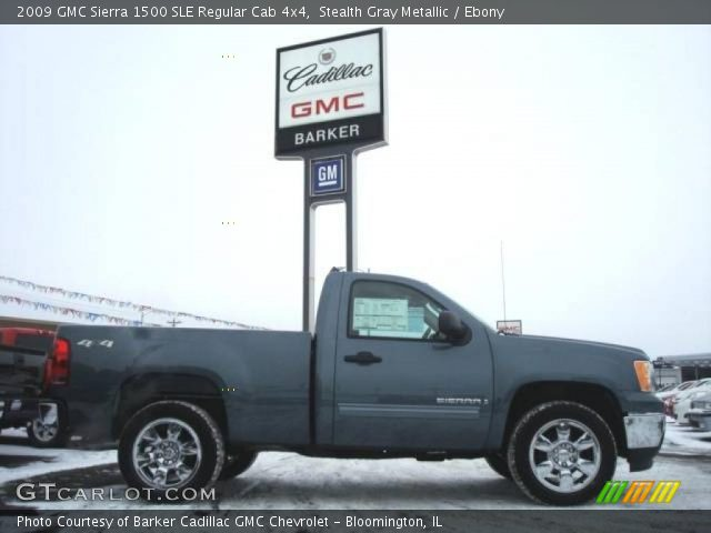 2009 GMC Sierra 1500 SLE Regular Cab 4x4 in Stealth Gray Metallic
