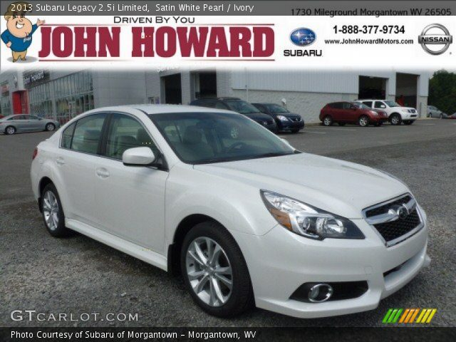 satin white pearl 2013 subaru legacy limited ivory interior vehicle. Black Bedroom Furniture Sets. Home Design Ideas