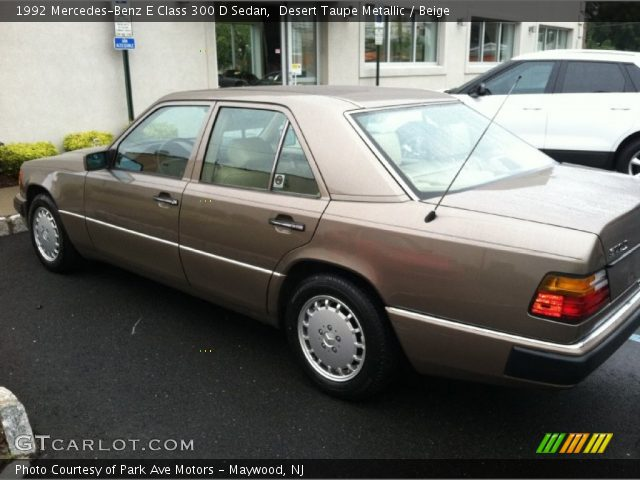 1992 Mercedes-Benz E Class 300 D Sedan in Desert Taupe Metallic