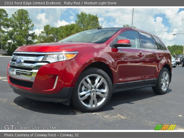 ruby red 2013 ford edge limited ecoboost medium light stone interior. Black Bedroom Furniture Sets. Home Design Ideas