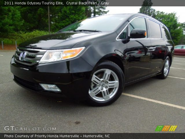 Crystal Black Pearl 2011 Honda Odyssey Touring Elite Gray Interior Gtcarlot Com Vehicle
