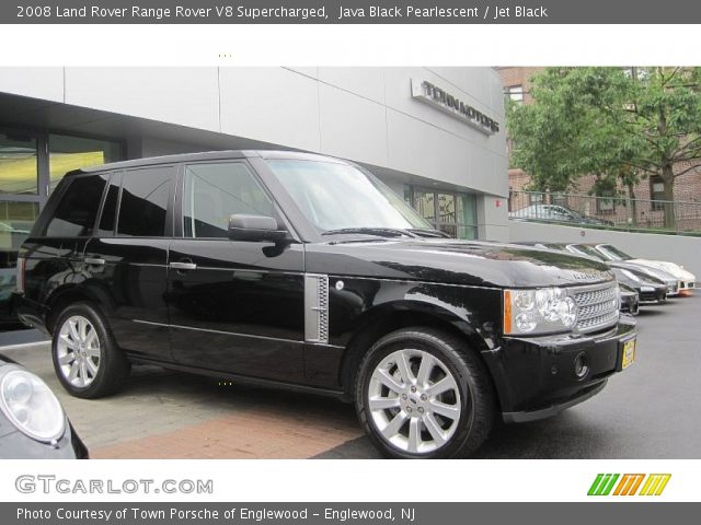 java black pearlescent 2008 land rover range rover v8. Black Bedroom Furniture Sets. Home Design Ideas