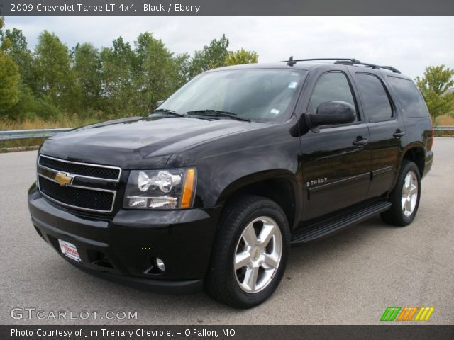 black 2009 chevrolet tahoe lt 4x4 ebony interior. Black Bedroom Furniture Sets. Home Design Ideas
