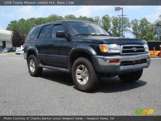 black 1998 toyota 4runner limited 4x4 oak interior vehicle archive 68282954. Black Bedroom Furniture Sets. Home Design Ideas