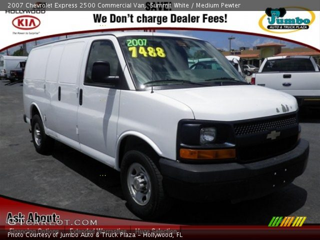 2007 Chevrolet Express 2500 Commercial Van In Summit White