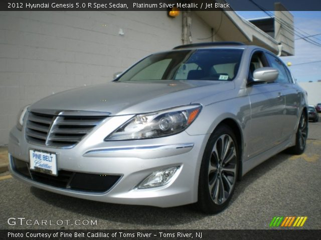 platinum silver metallic 2012 hyundai genesis 5 0 r spec sedan jet black interior gtcarlot. Black Bedroom Furniture Sets. Home Design Ideas