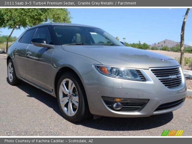 granite grey metallic 2011 saab 9 5 turbo4 premium sedan. Black Bedroom Furniture Sets. Home Design Ideas