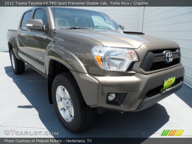 pyrite mica 2012 toyota tacoma v6 trd sport prerunner double cab graphite interior. Black Bedroom Furniture Sets. Home Design Ideas