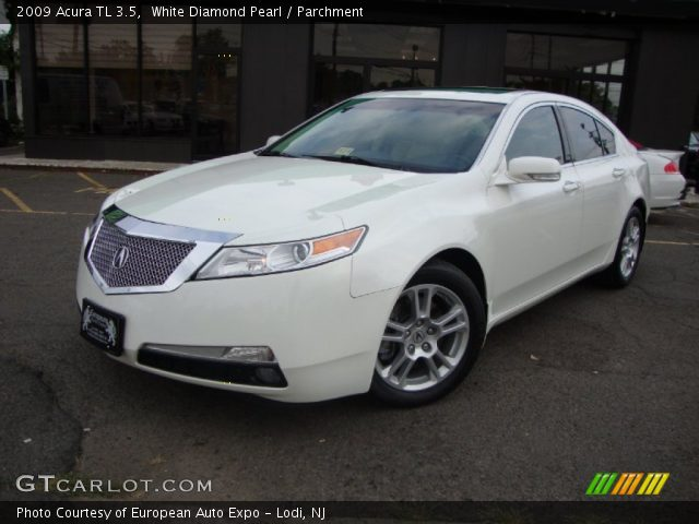 white diamond pearl 2009 acura tl 3 5 parchment. Black Bedroom Furniture Sets. Home Design Ideas