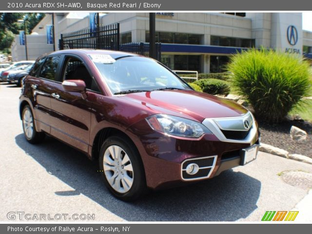 Basque Red Pearl - 2010 Acura RDX SH-AWD - Ebony Interior | GTCarLot ...