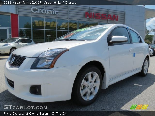 aspen white 2012 nissan sentra 2 0 sr charcoal interior vehicle archive. Black Bedroom Furniture Sets. Home Design Ideas