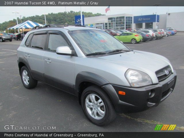 platinum metallic 2007 hyundai tucson se 4wd gray. Black Bedroom Furniture Sets. Home Design Ideas