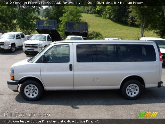 sheer silver metallic 2012 chevrolet express ls 1500 awd. Black Bedroom Furniture Sets. Home Design Ideas