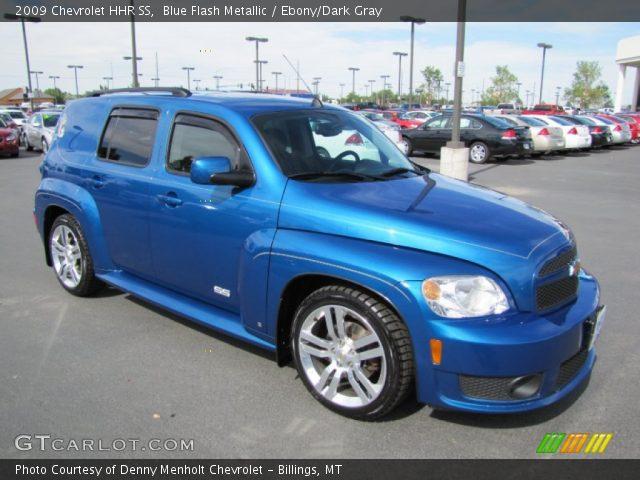 Blue Flash Metallic 2009 Chevrolet Hhr Ss Ebony Dark Gray