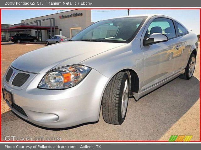 Titanium Metallic 2008 Pontiac G5 Gt Ebony Interior