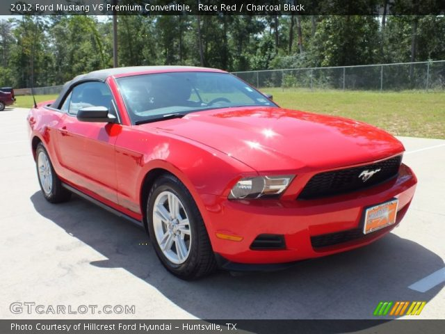 race red 2012 ford mustang v6 premium convertible charcoal black interior. Black Bedroom Furniture Sets. Home Design Ideas