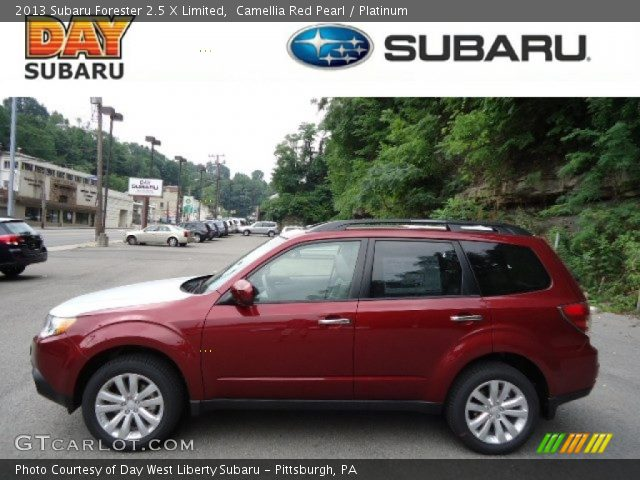 camellia red pearl 2013 subaru forester 2 5 x limited platinum interior. Black Bedroom Furniture Sets. Home Design Ideas