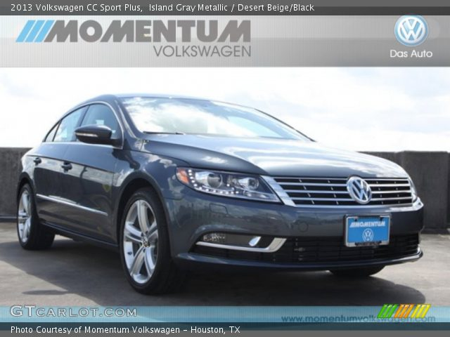island gray metallic 2013 volkswagen cc sport plus desert beige black interior gtcarlot. Black Bedroom Furniture Sets. Home Design Ideas