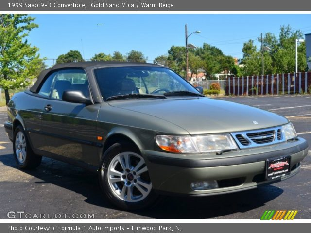 gold sand mica 1999 saab 9 3 convertible warm beige interior vehicle. Black Bedroom Furniture Sets. Home Design Ideas
