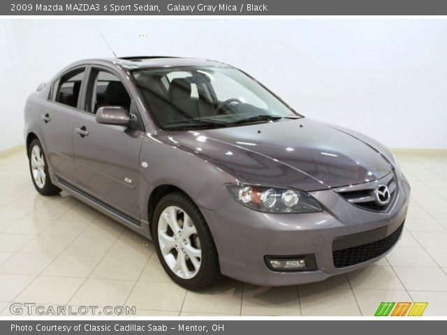 galaxy gray mica 2009 mazda mazda3 s sport sedan black. Black Bedroom Furniture Sets. Home Design Ideas