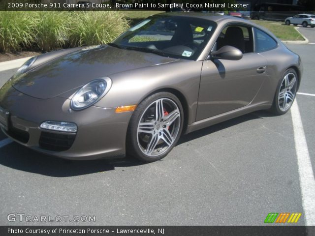 brown paint to sample 2009 porsche 911 carrera s coupe cocoa natural leather interior. Black Bedroom Furniture Sets. Home Design Ideas
