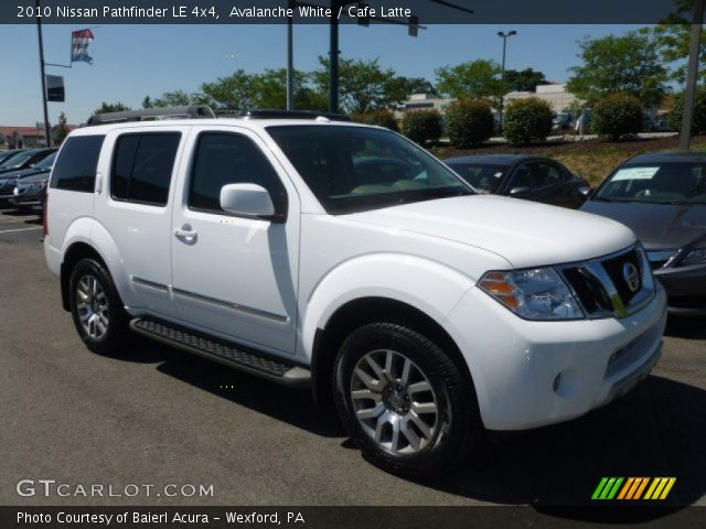 avalanche white 2010 nissan pathfinder le 4x4 cafe. Black Bedroom Furniture Sets. Home Design Ideas