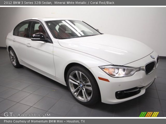 mineral white metallic 2012 bmw 3 series 328i sedan coral red black interior. Black Bedroom Furniture Sets. Home Design Ideas