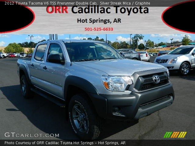 silver streak mica 2012 toyota tacoma v6 tss prerunner double cab graphite interior. Black Bedroom Furniture Sets. Home Design Ideas