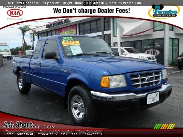 2001 ford ranger xlt supercab in bright island blue metallic click to