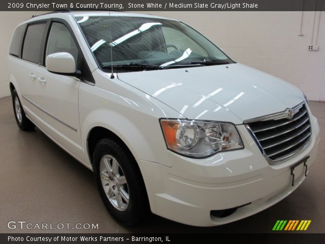 stone white 2009 chrysler town country touring medium slate gray light shale interior. Black Bedroom Furniture Sets. Home Design Ideas