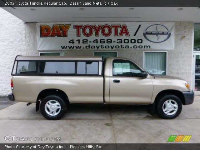 desert sand metallic 2003 toyota tundra regular cab oak interior vehicle. Black Bedroom Furniture Sets. Home Design Ideas