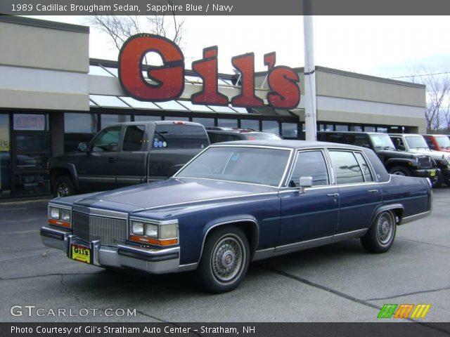1989 Cadillac Brougham Sedan in Sapphire Blue