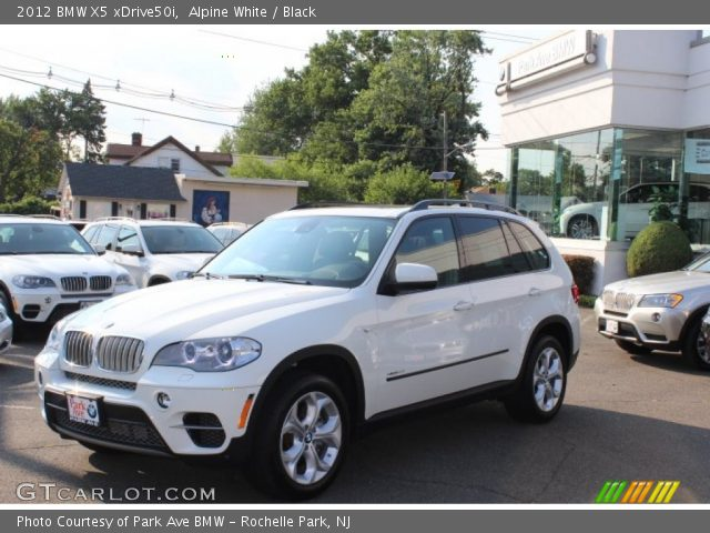 alpine white 2012 bmw x5 xdrive50i black interior vehicle archive 68630716. Black Bedroom Furniture Sets. Home Design Ideas