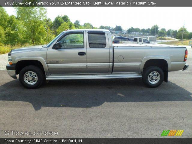 Light Pewter Metallic 2002 Chevrolet Silverado 2500 Ls Extended Cab Medium Gray Interior