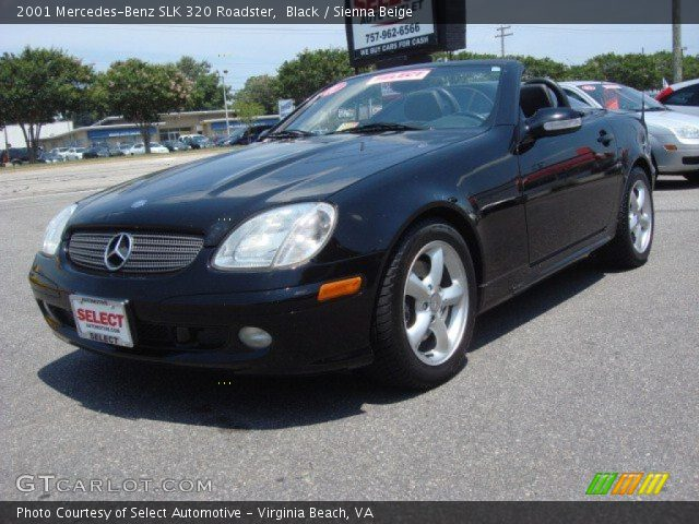 Black 2001 mercedes benz slk 320 roadster sienna beige for 2001 mercedes benz slk320
