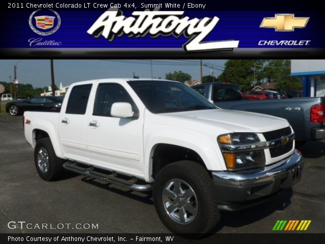 summit white 2011 chevrolet colorado lt crew cab 4x4. Black Bedroom Furniture Sets. Home Design Ideas