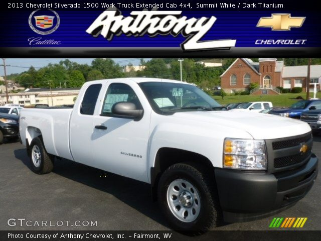 2013 Chevrolet Silverado 1500 Work Truck Extended Cab 4x4 in Summit White