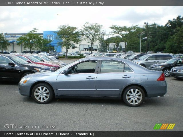 cool blue metallic 2007 honda accord se v6 sedan gray interior vehicle. Black Bedroom Furniture Sets. Home Design Ideas
