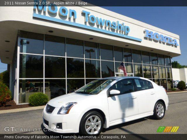 aspen white 2011 nissan sentra 2 0 sr beige interior vehicle archive 68664738. Black Bedroom Furniture Sets. Home Design Ideas