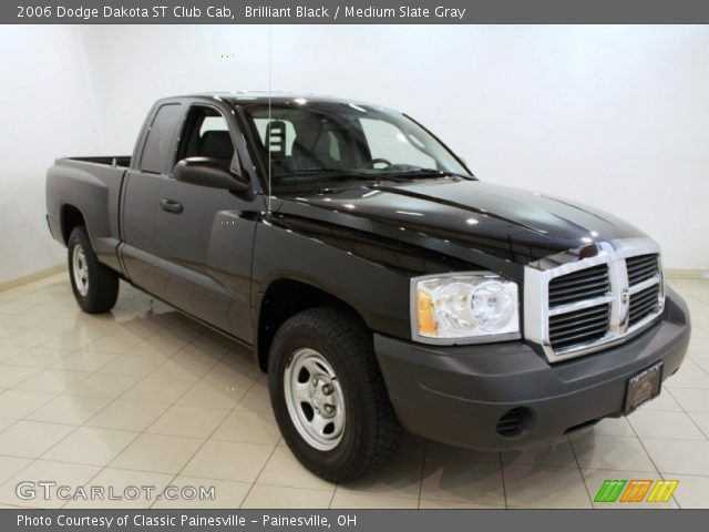 brilliant black 2006 dodge dakota st club cab medium slate gray interior. Black Bedroom Furniture Sets. Home Design Ideas