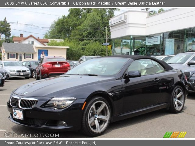 carbon black metallic 2009 bmw 6 series 650i convertible. Black Bedroom Furniture Sets. Home Design Ideas