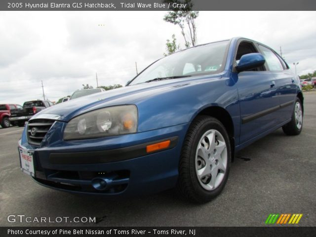 tidal wave blue 2005 hyundai elantra gls hatchback. Black Bedroom Furniture Sets. Home Design Ideas