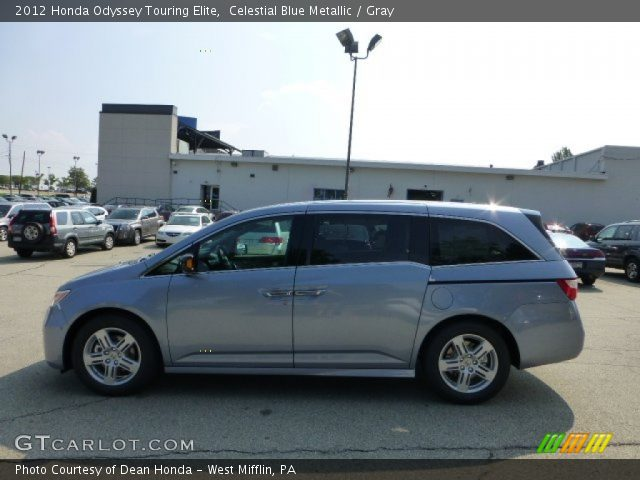 celestial blue metallic 2012 honda odyssey touring elite gray interior. Black Bedroom Furniture Sets. Home Design Ideas
